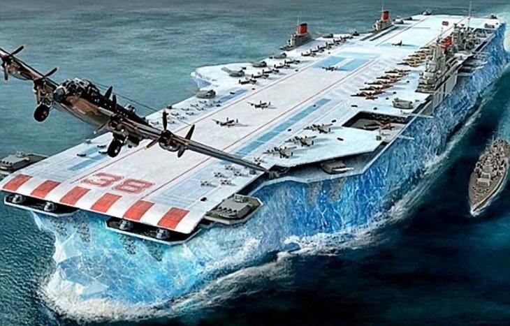 Авианосец изо льда – безумная идея Уинстона Черчилля во время дефицита стали